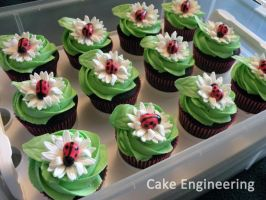 Ladybug cupcakes by cake-engineering