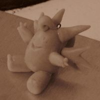 Clefable keychain wip by CindTheSarkany