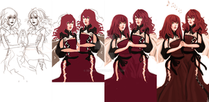 Popola and Devola progress by Renuski