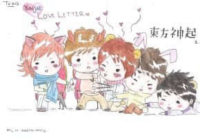 Yunho's lil love letter, tvxq by Cassiopeia-chan