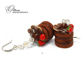 Chocolate cakes by OrionaJewelry