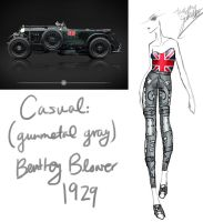 1929 (Gunmetal Gray) Bentley Blower by GL-Gloria