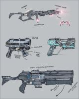scifi weaponry by xell