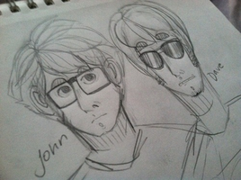 John and Dave by XPockyDemonX