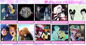 My top 10 favorite couples by Smurfette123