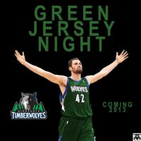 Timberwolves 2013 - Green Alt Jersey by tomeadesign