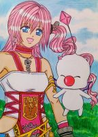 FF XIII-2: Serah and Mog by dagga19
