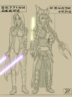 Post Clone Wars Ahsoka and Barriss by Raikoh-illust