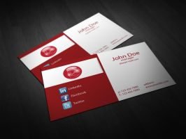 Free Red Corporate Business Card Template Vol 01 by BorceMarkoski