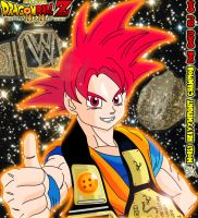 WWE World Heavyweight Champion Goku SSJ God by gonzalossj3
