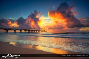 Sunrise-Pompano-Beach-Pier-Florida by CaptainKimo