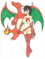 Ashley of Team Rocket - colored by Panthers07