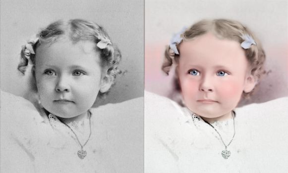Victorian Child before and after by Maysmum