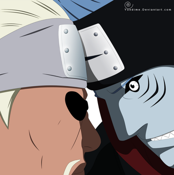 Kisame VS Bee by Yondime