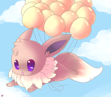 Flying Eevee by Glyon