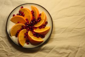 Orange and Pomegranate by froggynaan