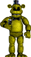 Golden Freddy Standing Up by Trapspring