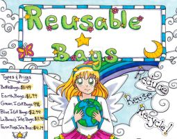 Work: Reusable Bags Sign by YuniNaoki