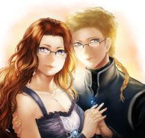 Commission: Shamael and Selene by f-wd