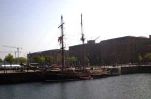 Ship In Dock Stock By PVS by pixievamp-stock