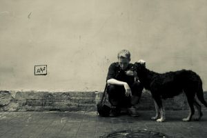 me and a dog by maxmew