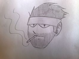 Solid Snake by Strengian