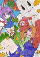 Super Mario Sisters by SomebodysWish