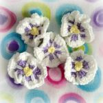 Thoughtful Crochet Pansies by MadameWario