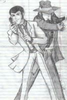 Lupin and Jigen by OUBandGeekRJL