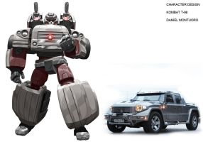 KOMBAT T-98 Transformers style by xjager513