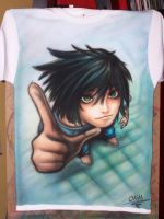 L DEATH NOTE- AIRBRUSH by OKAMIAIRBRUSH