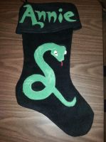 Slytherin Christmas Stocking by LovelyLittleLemon
