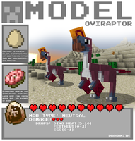 Minecraft - Oviraptor by Dragonith