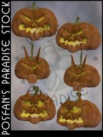 Evil Jack O'Lanterns 002 by poserfan-stock
