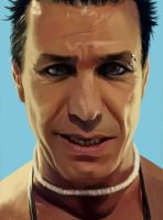 Till Lindemann painting - Mein Land by Aquila--Audax