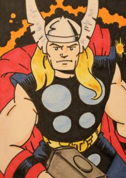 Thor Sketch Card... by chicagogeekdad