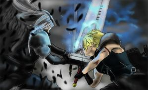 Sephiroth vs Cloud by Kjartist2588