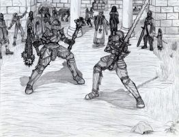 The medieval tournament by draks