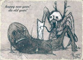 Happy new year Die old Year by dcf