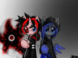 Blaze Hart and Shadow Frost by BlazeHart96