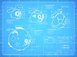 Zombie Bunnies Blueprint Tease by mjeffrey