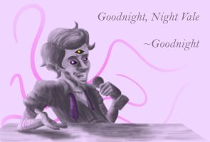 The Voice of Night Vale - pink bg by Shaed-Knightwing
