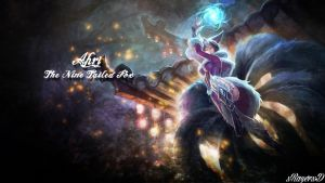 LoL - MidNight Ahri Wallpaper ~xRazerxD by xRazerxD
