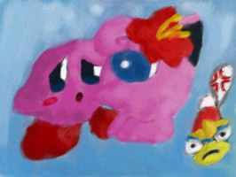 Kirby and Jigglypuff BitF styl by Quacksquared