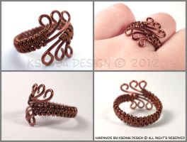Copper Waves by KsenyaDesign