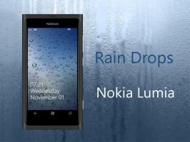 Rain Drops WP7 Nokia Lumia Wallpaper by biggzyn80