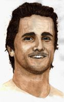 Coffee Painting - Christian Bale by A-Chard