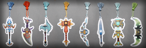 World of Warcraft - Legendary weapon bookmarks by SuperSiriusXIII