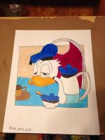 donald duck from a coffee mug by Jewel18656