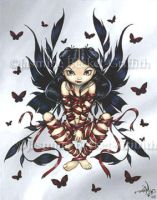 Dark Ribbon Fairy by jasminetoad
